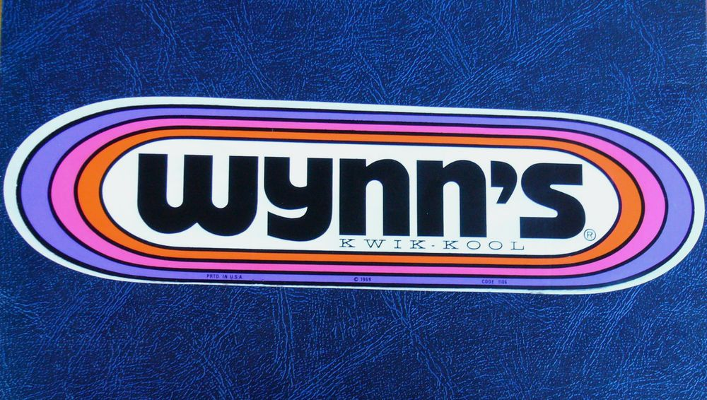 LARGE VINTAGE WYNN'S STICKER DECAL from 1969 Vintage