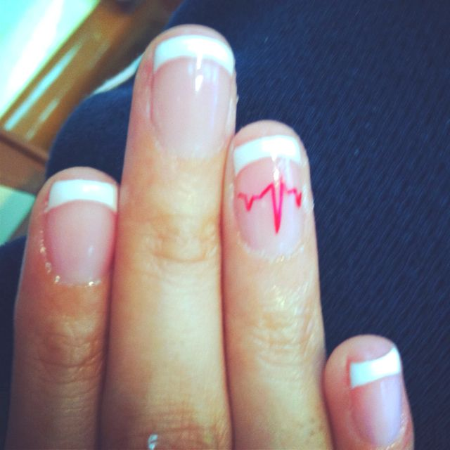 EKG nails for when i DO get accepted into the nursing program ...