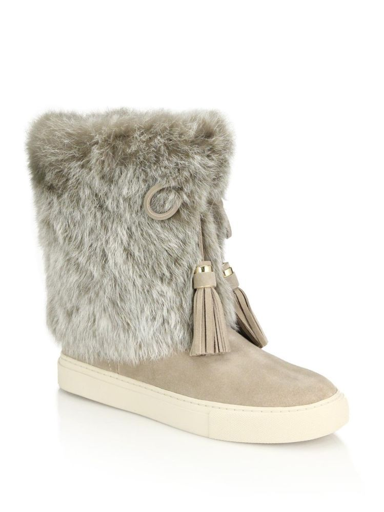 1b15468e931d NEW Tory Burch ANJELICA RABBIT FUR TRIM BOOTS Size 7  fashion  clothing   shoes  accessories  womensshoes  boots (ebay link)