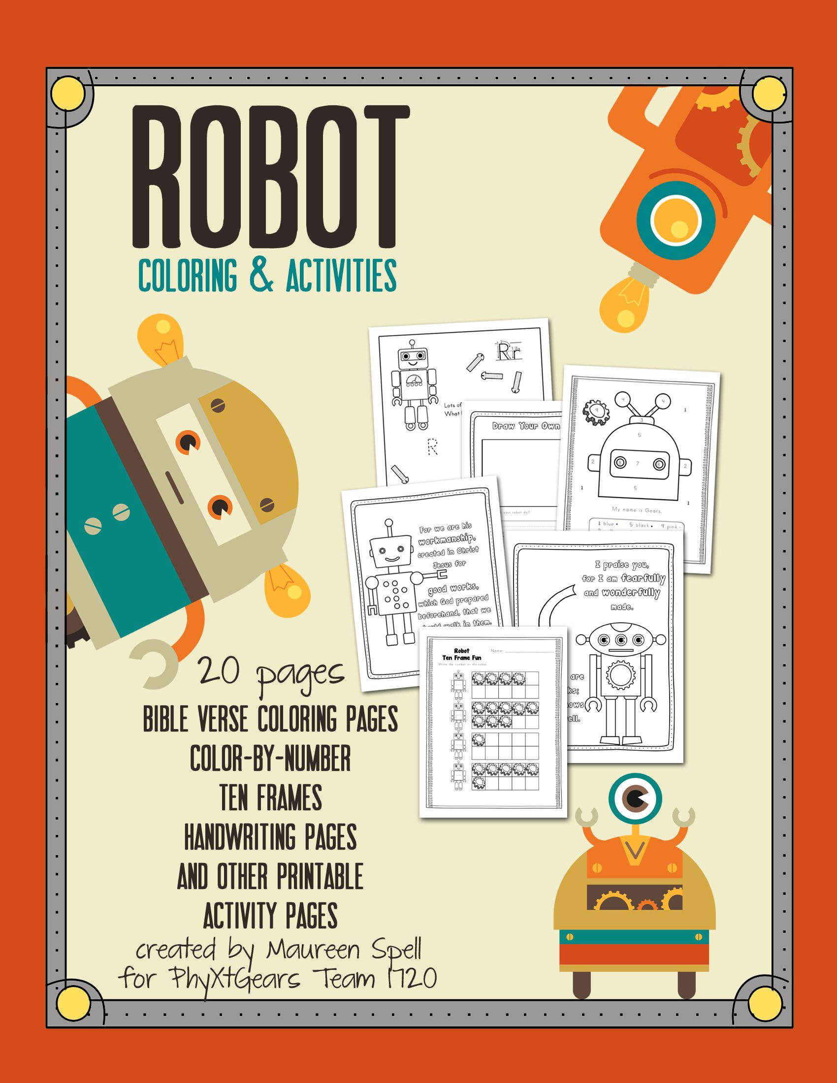 Printable Robot Coloring Amp Activity Pack