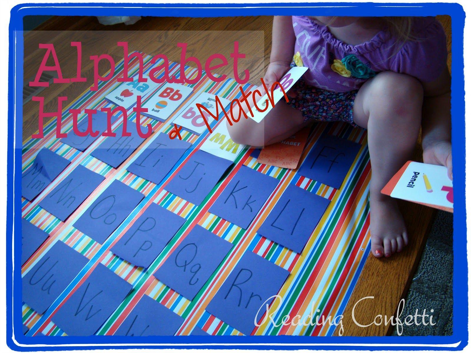 Alphabet Hunt And Match