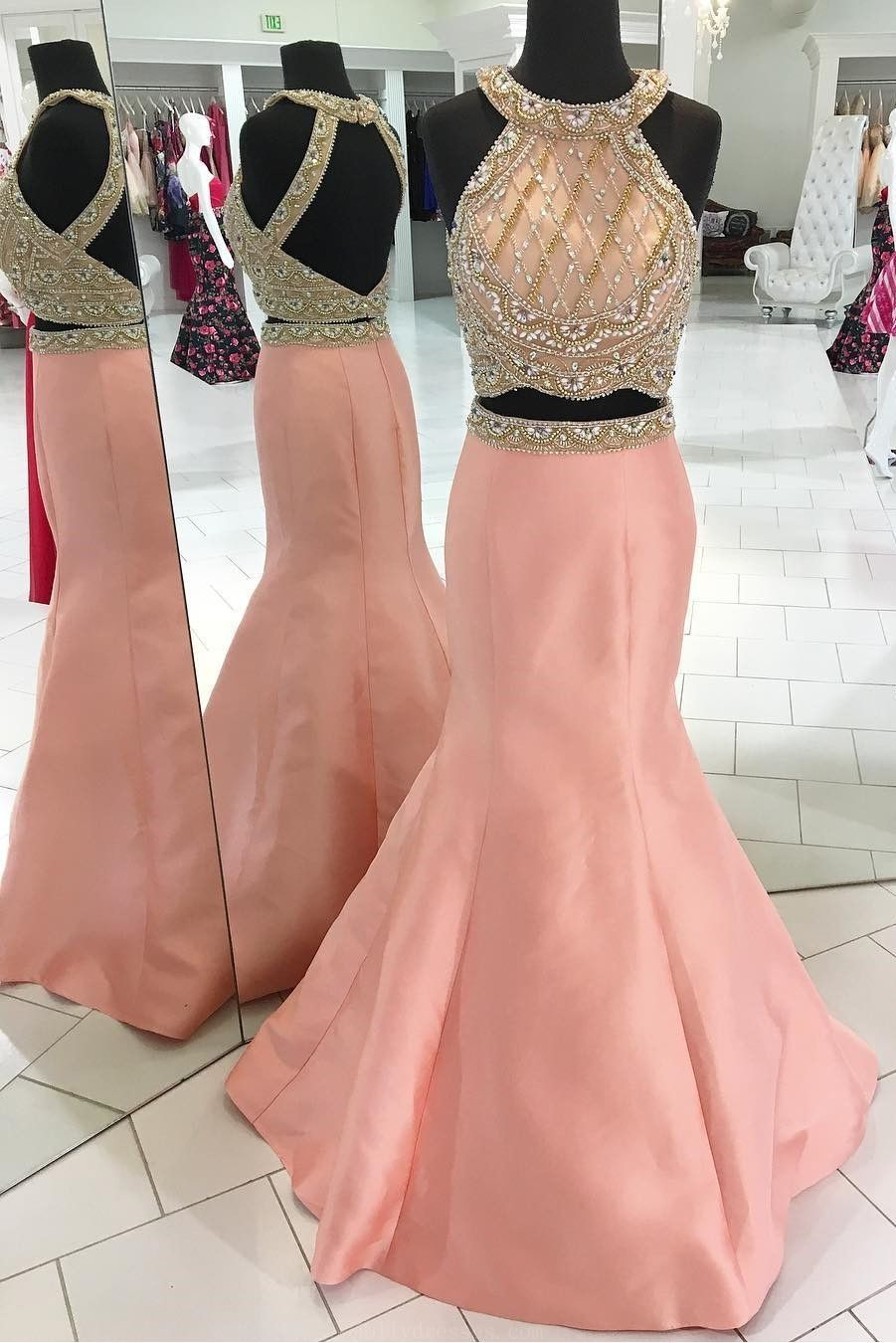 Custom made easy pink prom dresses prom dresses long mermaid prom