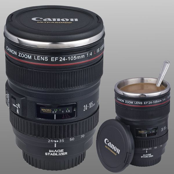 Canon Lens Camera 24 105mm Hot/Cold Coffee, Tea Cup Mug. Wahhhttt