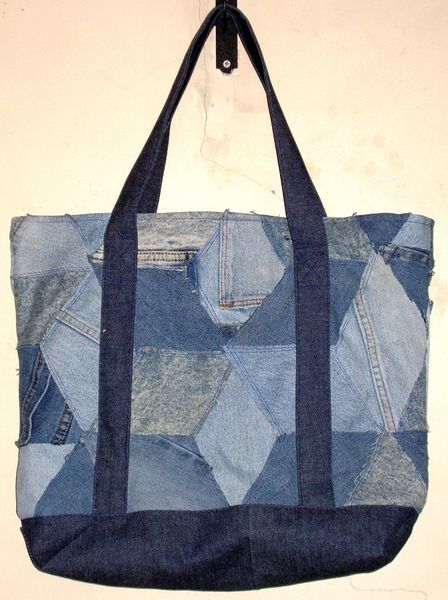 70f60a763b64 Recycled Denim Tote Bag