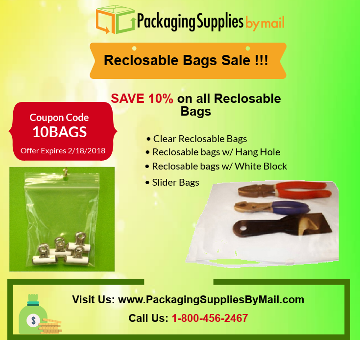 Get 10 Off On All Reclosable Bags Orders