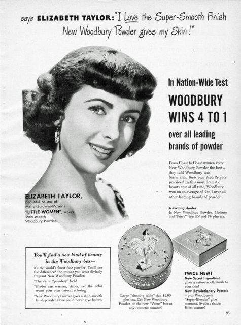 Good Housekeeping Dec. 1948 ELIZABETH TAYLOR WOODBURY ; PRINT AD ...