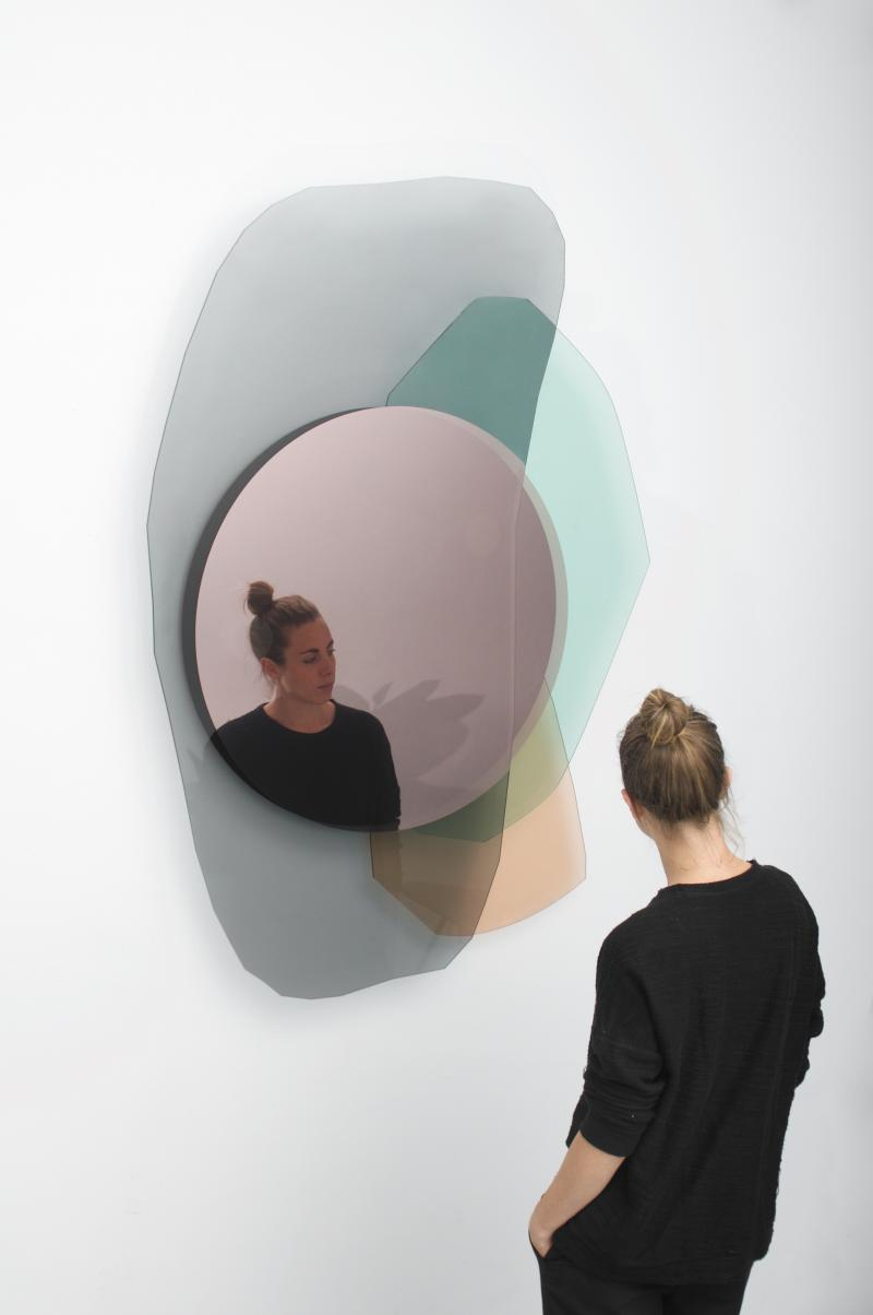 Oskar Peet & Sophie Mensen  Glass Repeated Mirror I by Oskar Peet and Sophie Mensen is part of Mirror design wall - Oskar Peet & Sophie Mensen  Glass Repeated Mirror I by Oskar Peet and Sophie Mensen offered by Galerie Philia on InCollect
