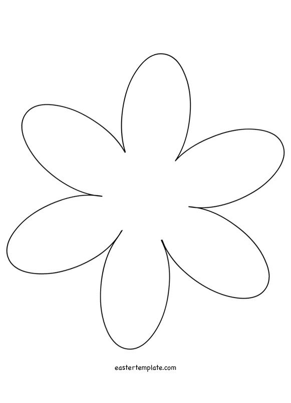 6 petal flower template лето pinterest template and easter