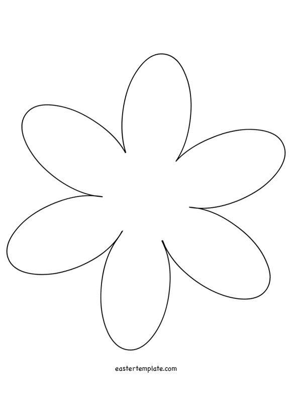 6 Petal Flower Template | Uccelli Primavera Rondini | Pinterest