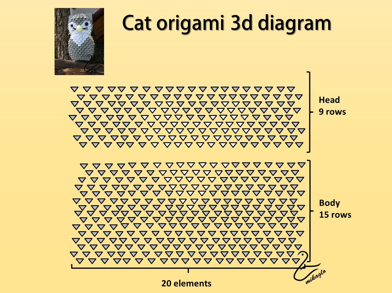 3d origami cat diagram 2 3d origami cats pinterest 3d 3d origami cat diagram reviewsmspy
