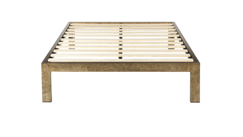 The Frame Gold Brushed Steel Bed Frame Design By Keetsa With