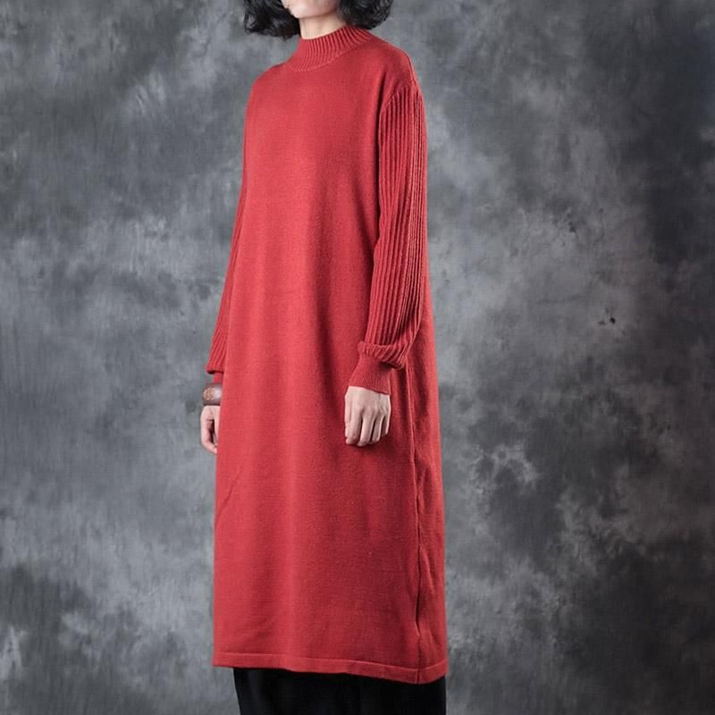 Women Casual Long Sleeve Knitted Dress