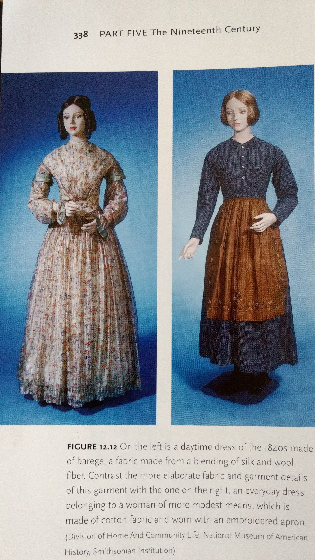 1840s Day Dress Vs 1840s Servant Dress Historical Costume 1840s Day Dress Historical Dresses [ 2304 x 1296 Pixel ]