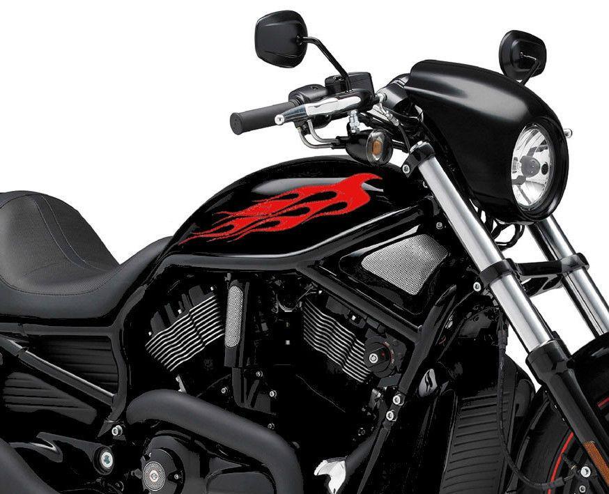 2 X Flame Fuel Tank K11 Fire Vinyl Motorcycle Motor Decal Sticker