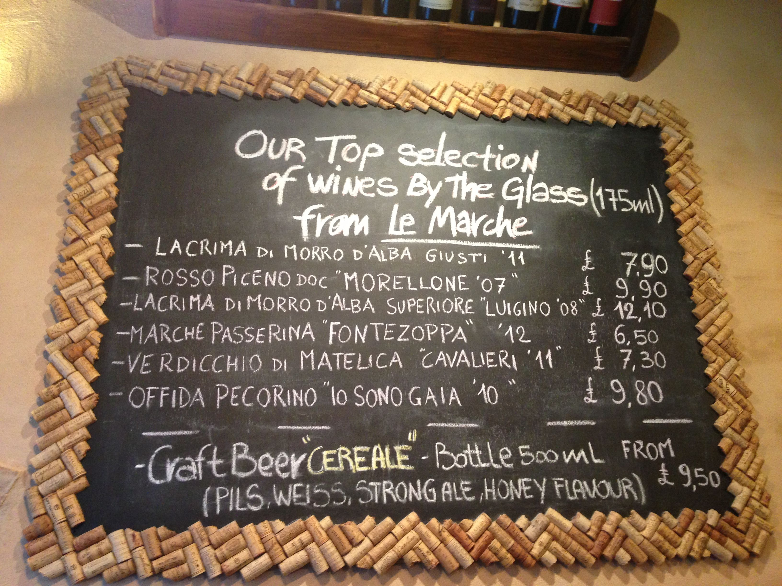 Wine Cork Chalkboard Frame