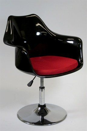Tulip Style Lilly Modern Salon Arm Chair Dining Chair