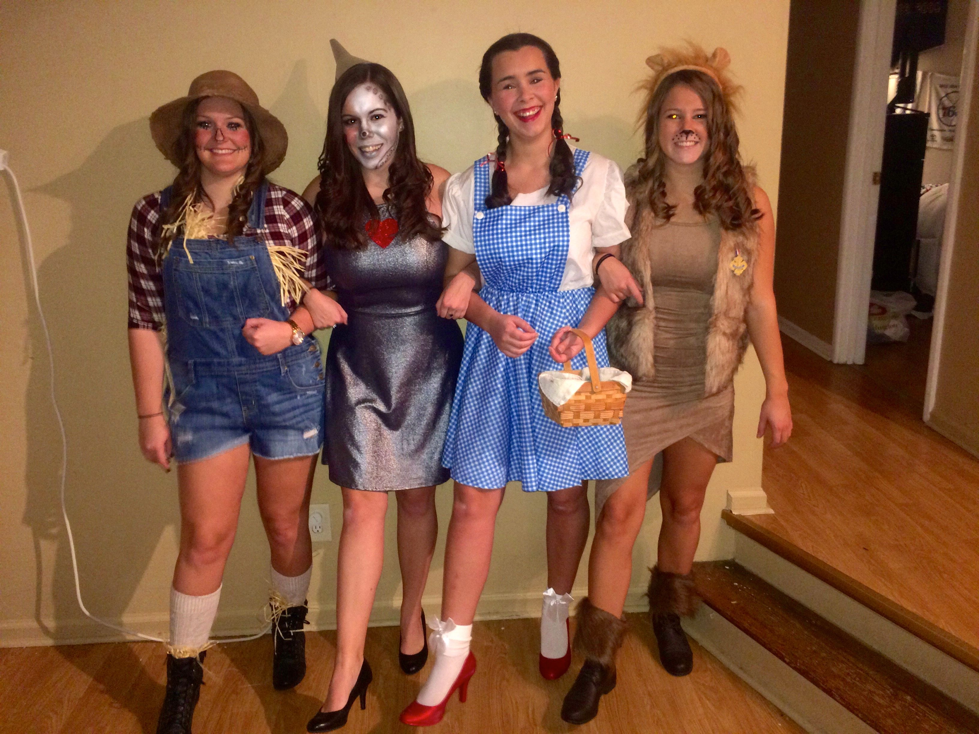 wizard of oz group costume diy dorothy tin man