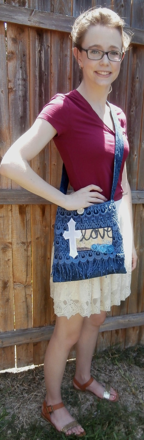 Handmade Tote Handbag Denim Purse Cross body by CrossMyHeartBags, $26.00