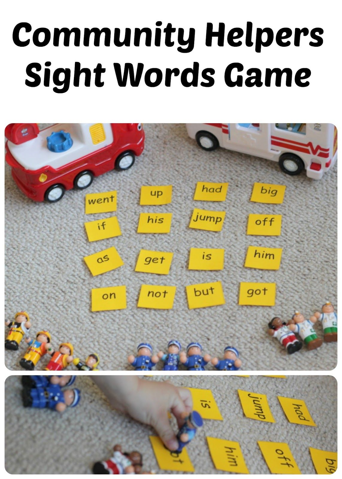 Community Helpers Sight Words Game Sight word games