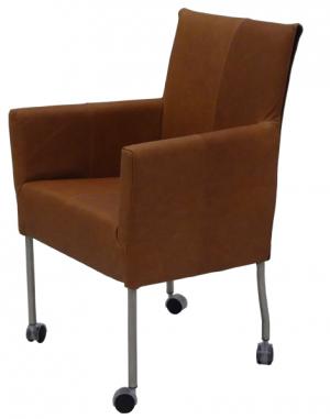 Vier Eetkamerstoelen Op Wieltjes.Pisa Sc Design Eetkamerstoel Kenia Leer Eethoekstoelen Design