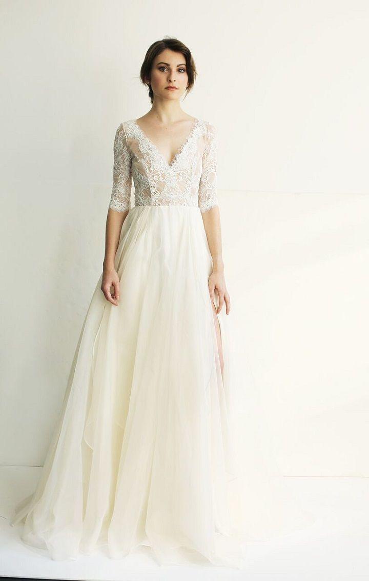 Tea length sleeve wedding dress  Leanne Marshall Wedding Dress  Leanne marshall wedding dresses