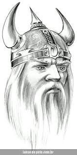 Viking Skull Helmet Tattoo