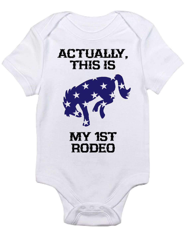 Baby Boy/Girl Horse Onesie, My First Rodeo One Piece ...