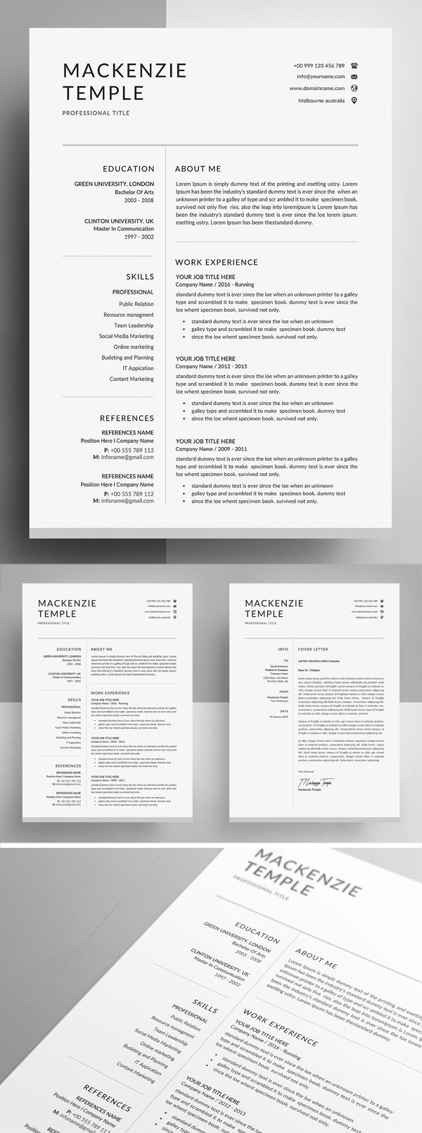 25 Best Resume Templates For 2020 in 2020