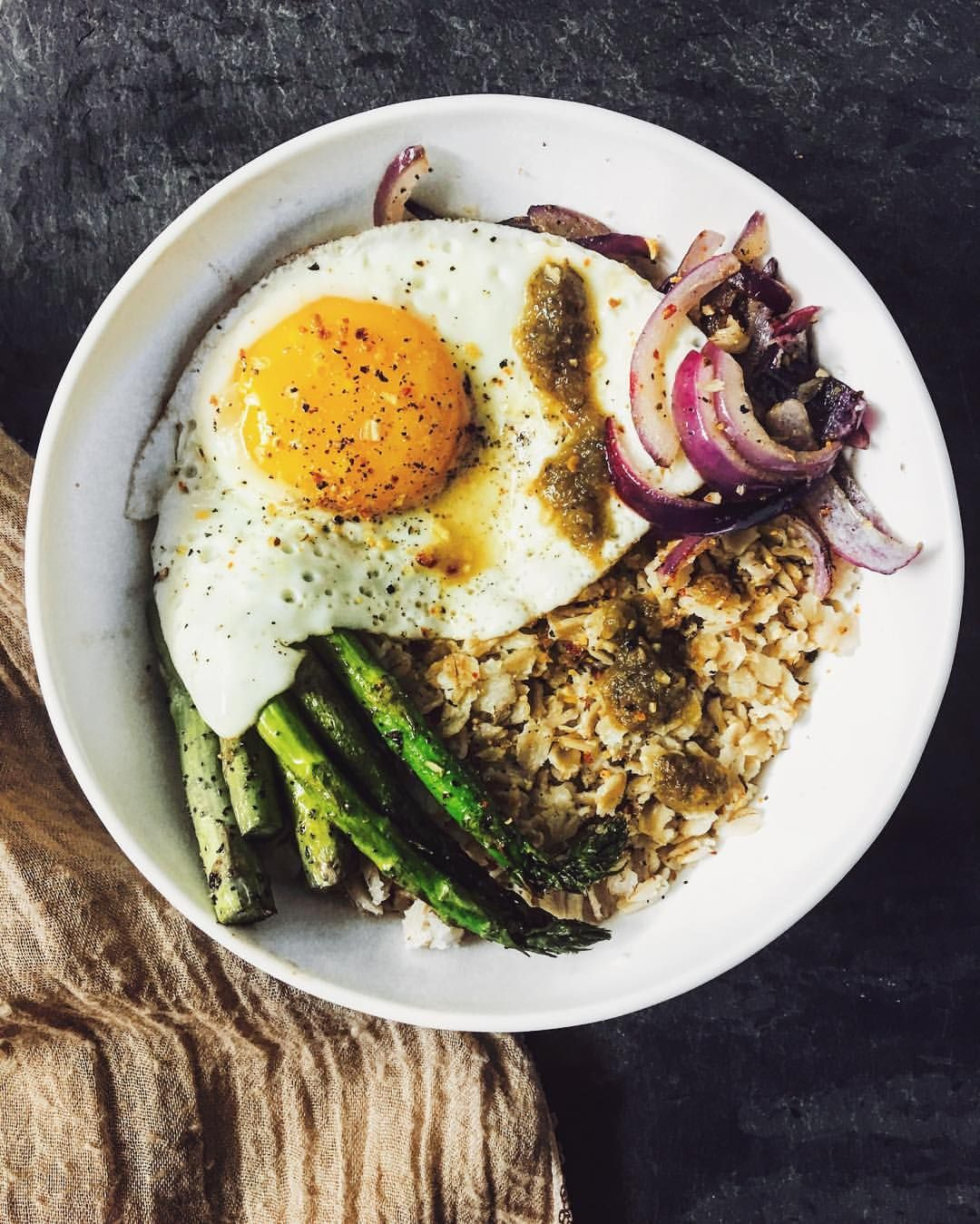Savory afternoon oats with fried egg - Dietetic Aesthetic | Capture the flavor  #delicious, #healthy, #eeeeeats, #food, #instafood, #nycfood, #buzzfeedfood, #buzzfeast, #newforkcity, #nyceats, #rd2be, #health, #nutrition, #dieteticaesthetic, #foodstagram, #feedfeed, #foodie, #f52grams, #spoonuniversity, #foodporn, #newforkcity, #huffposttaste, #feedfeed, #feastagram, #spoonfeed, #collegeeats, #nom, #nyc