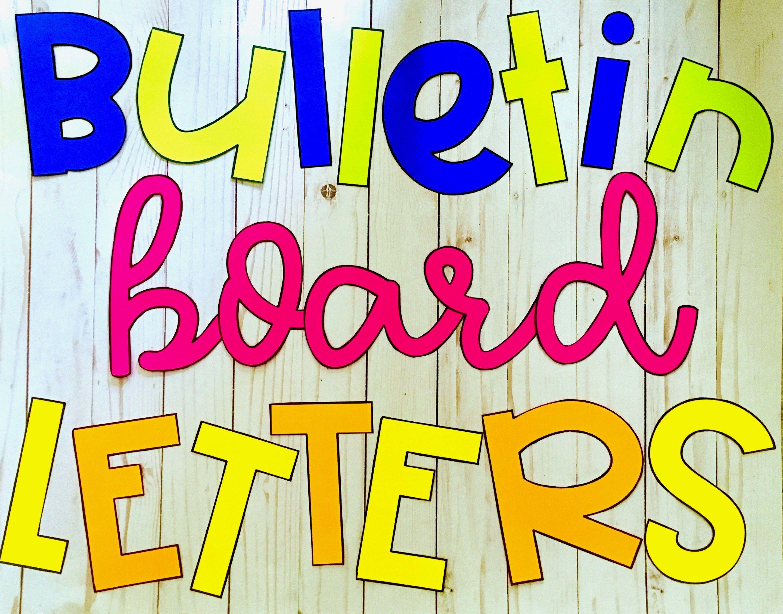 Fancying Up Your Bulletin Board Letters Bulletin board