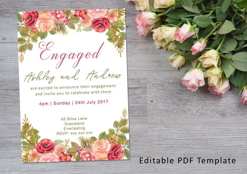 Engagement Invite INSTANT DOWNLOAD
