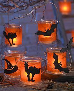 Windlichter Halloween Deko Basteln Halloween Deko Basteln Mit Kindern Basteln Halloween