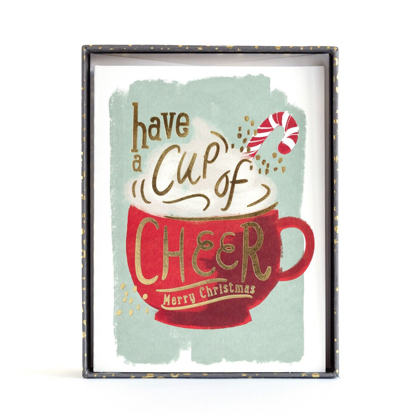 8ct Minted Have a Cup of Cheer Hot Chocolate Holiday Boxed