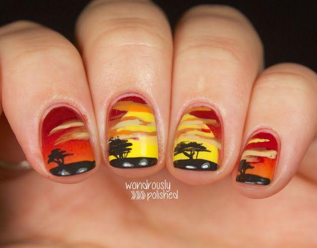 Wondrously Polished: Lion King Sunrise #nail #nails #nailart | Crazy ...