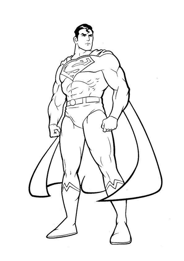 Resultado de imagem para imagens do super homem para colorir ...