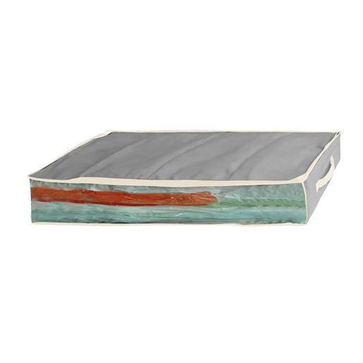 sac sous vide avec housse - plastique - 100 x 40 x h 15 cm - blanc