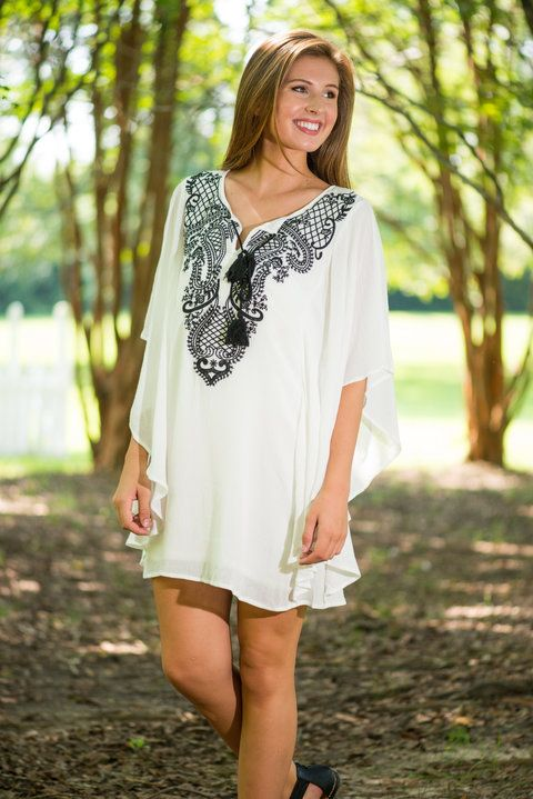 Artful Proof Dress, White