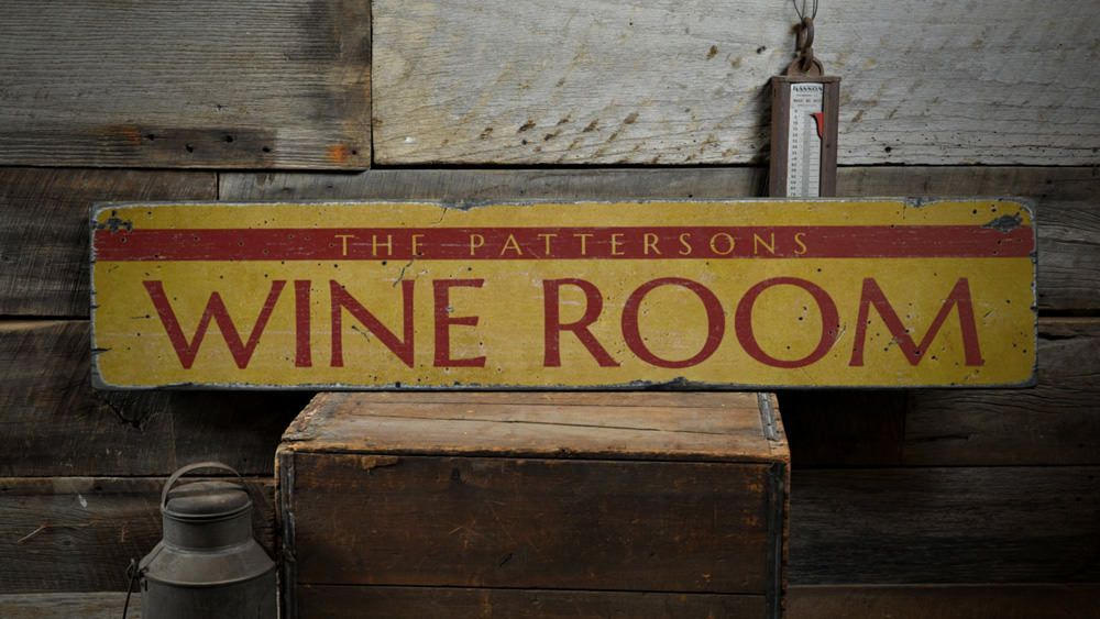 Vintage Wooden Signs Home Decor Glamorous Wine Room Wood Sign Custom Family Name Home Decor Wine Lover Inspiration