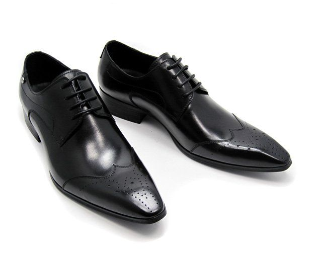 Wholesale 2010 Men Shoes Men Leather Dress Shoes Men Designer Brand Wedding Dress Shoes Groom