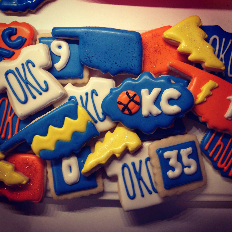 OKC Thunder Cookies