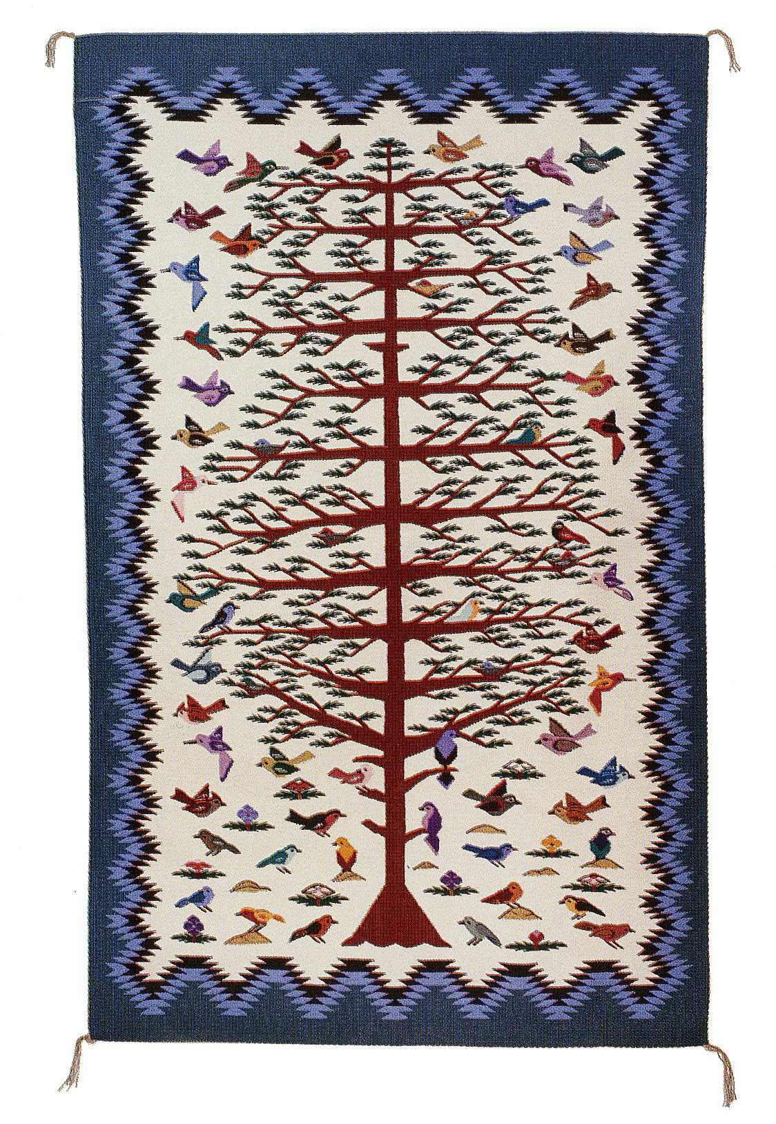 Navajo Rugs The Tree Of Life Design Portrays A Tree Of Cornstalk