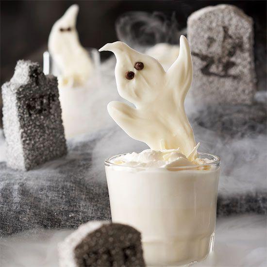 Sweet White Chocolate Ghosts