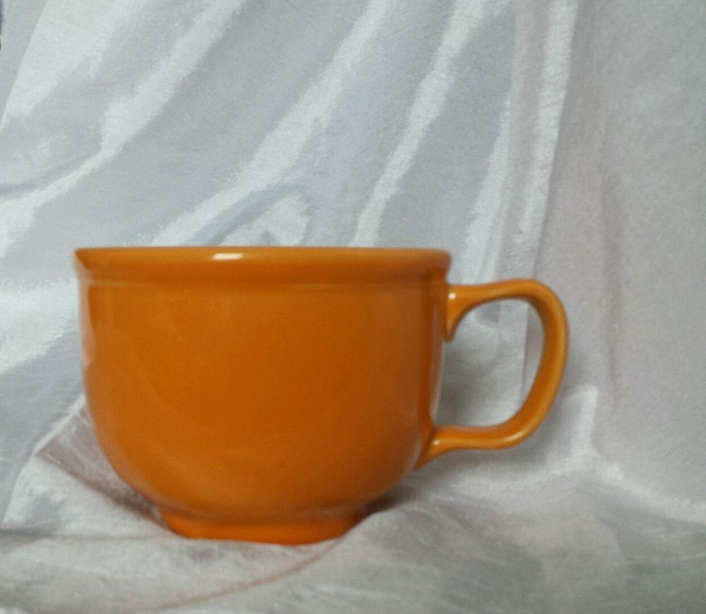 Homer Laughlin Large Coffee Cup / Soup Mug - Fiesta Orange