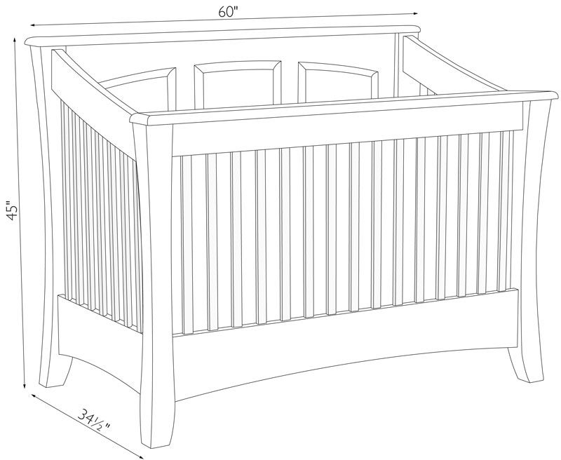 Standard Size Crib Mattress Dimensions Carlisle Crib