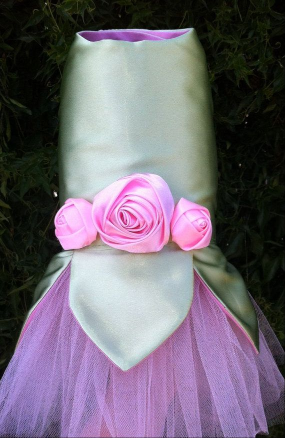 Tinkerbell Fairy Dog Dress Costume satin pink by ...