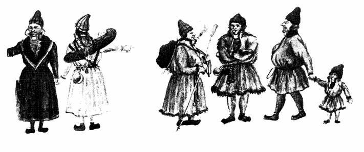 some drakter fra 1700 tallet