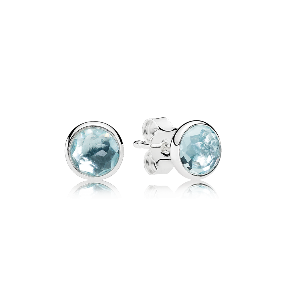 2803d8d85 ... sterling silver birthstone earring studs for the month of march feature aqua  blue crystals canada mother daughter charm 925 sterling silver pendant ...