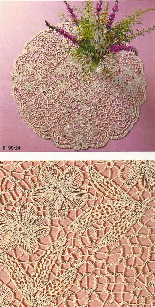 macram crochet lace anna burda january 1990 crochet pinterest. Black Bedroom Furniture Sets. Home Design Ideas