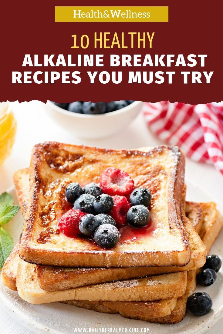 alkaline diet breakfast foods