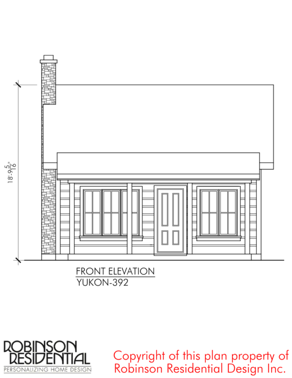 The Yukon Tiny House Plans by Robinson Residential   COTTAGE ...